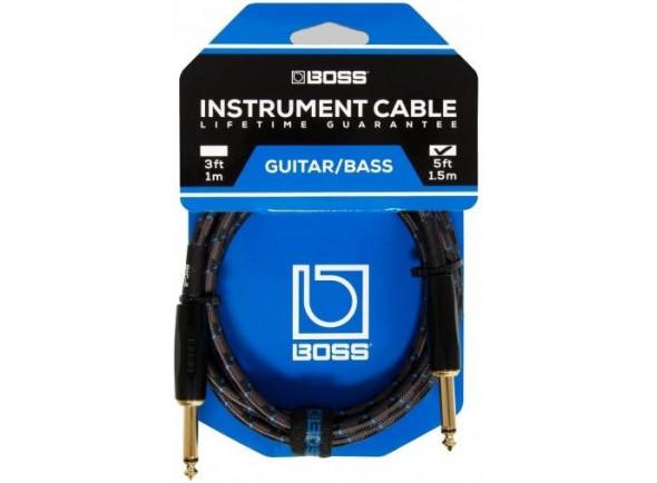 Cabo para guitarra/Cabo para Instrumento BOSS BIC-5 Jack 1.5m