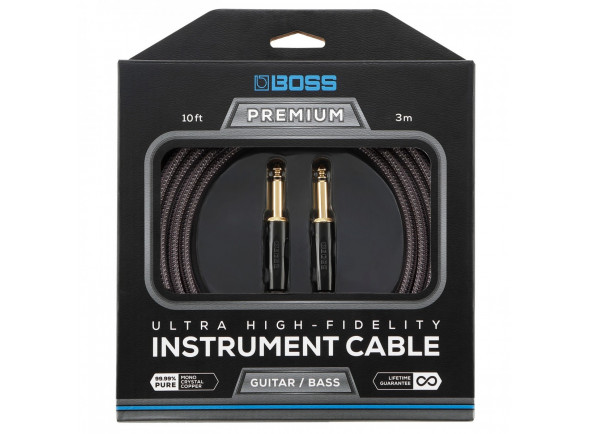 Cabo de Instrumento/Cabo para Instrumento BOSS BIC-P10 Premium Jack Reto 3m