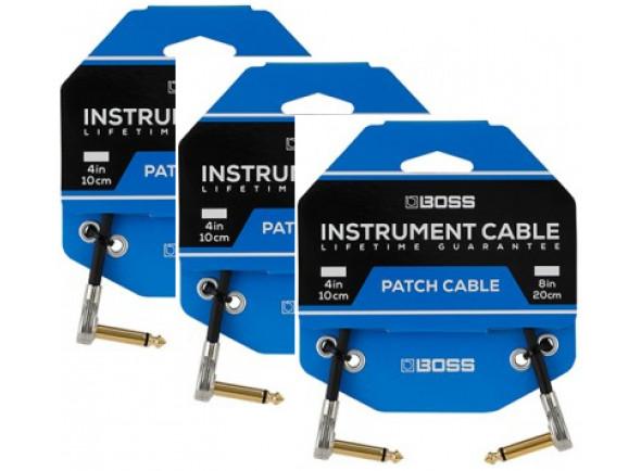 Cabo para pedais de efeitos/Cabos de Patch BOSS BPC-4-3 Patch Pack 3 cabos 10cm