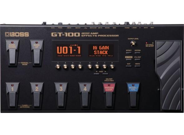 Pedaleiras para guitarra elétrica BOSS GT-100 Pedaleira Multi-Efeitos