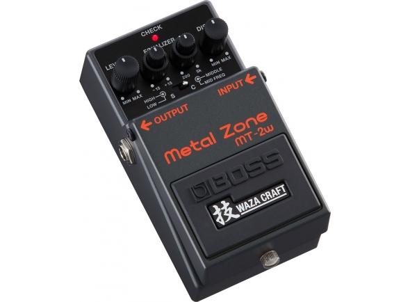 Pedal de distorção analógica/Pedal de distorção BOSS MT-2W Metal Zone - Edição Especial Waza Craft