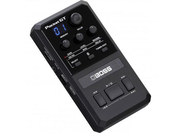 Processador de Efeitos/Pedaleiras para guitarra elétrica BOSS POCKET GT Processador Multi-Efeitos Bluetooth USB