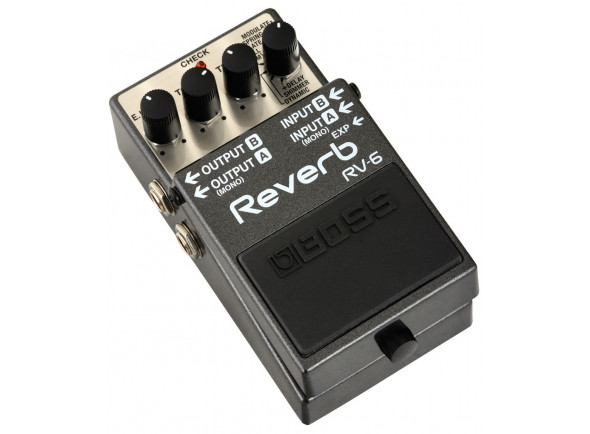 Pedal de Reverb/Reverb y efectos Hall BOSS RV-6 Pedal Reverb Digital Premium
