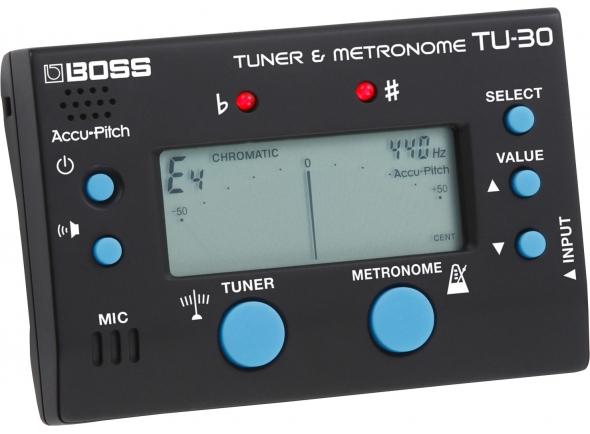 Afinador de Guitarra BOSS TU-30 Afinador e Metronomo