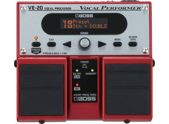 Processador de Voz/Procesadores para vocalistas BOSS VE-20 Pedal Processador de Voz