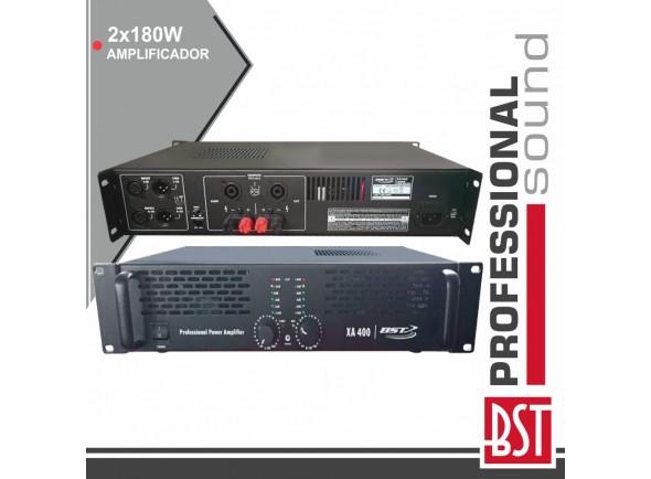 Amplificador Áudio /Amplificadores BST Amplificador Áudio Pro 2x180w Saída Link 4/8 Ohms Bst