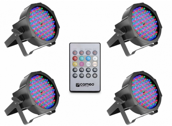 Projector LED PAR Cameo Flat PAR RGB 10 Bundle