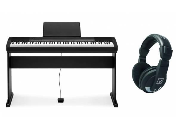 Piano Digital Casio CDP-130 BK Bundle