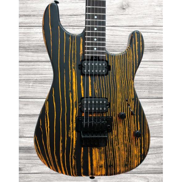 Guitarras formato ST Charvel PM SD1 HH FR EBN OLD YELLA