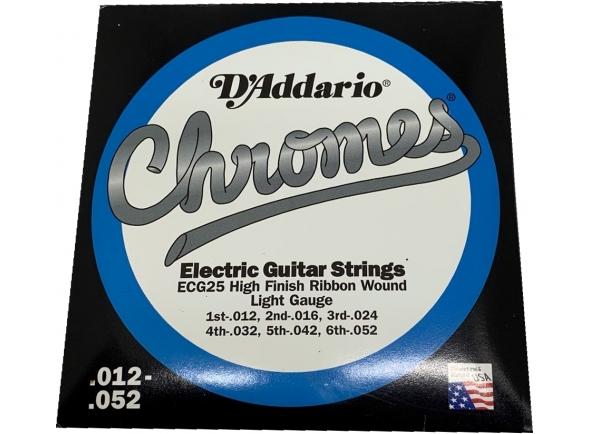 Cordas para guitarra jazz/Jogo de cordas .012 D´Addario ECG25 Light