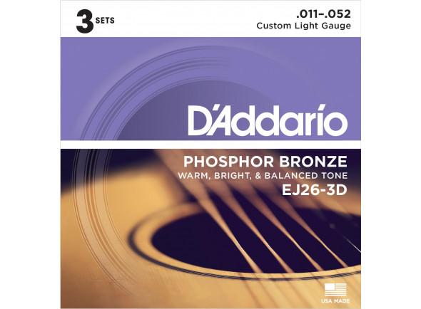 Jogo de Cordas para Guitarra Acústica /Jogo de cordas .011 D´Addario  EJ26-3D