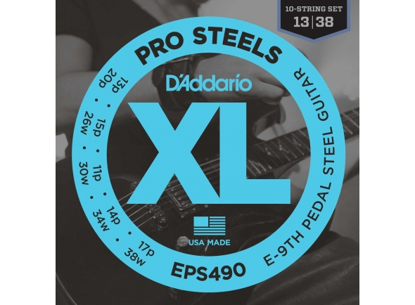 Cordas para Pedal Steel Guitar/Jogo de cordas .013 D´Addario EPS490 XL ProSteels
