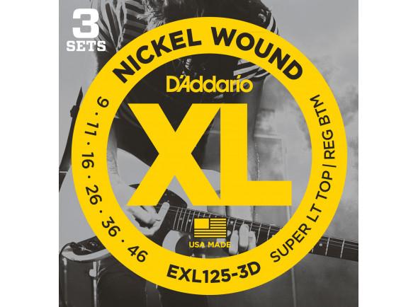 Jogo de cordas para Guitarra Elétrica/Jogo de cordas .009 D´Addario  EXL125-3D