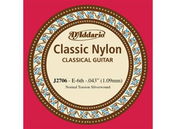 Cordas individuais para guitarra D´Addario J2706 E6
