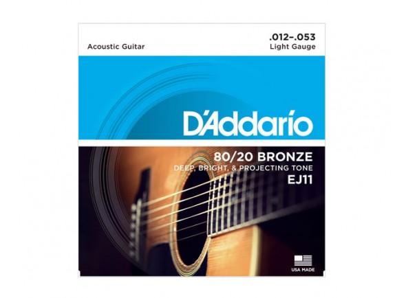 Jogo de cordas .012/Jogo de cordas .012 D´Addario Jogo Cordas 012 Guitarra Acústica EJ11 012-053