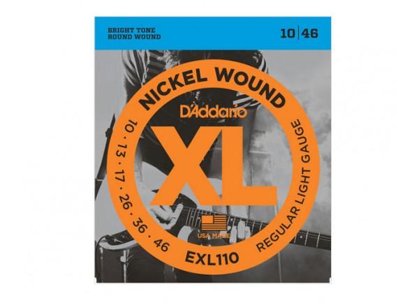 Jogo de cordas .010 D´Addario Jogo de Cordas Aço 010 Guitarra Eléctrica EXL110