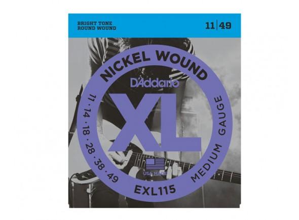 Jogo de cordas .011 D´Addario Jogo de Cordas Aço 011 Guitarra Eléctrica EXL115
