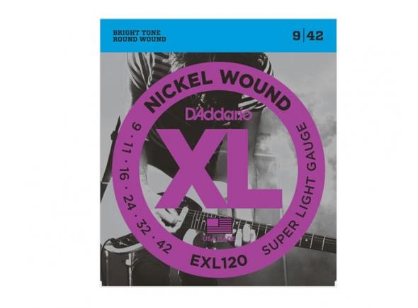 Jogo de cordas .009 D´Addario Jogo de Cordas EXL-120 009 para Guitarra Eléctrica B-Stock