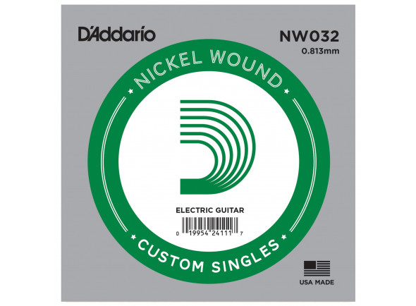 Cordas individuais para guitarra elétrica D´Addario  NW032 Single String