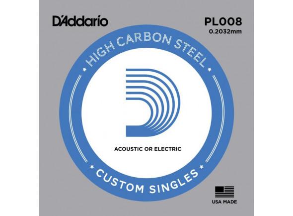 Cordas individuais para guitarra elétrica D´Addario  PL008 Single String