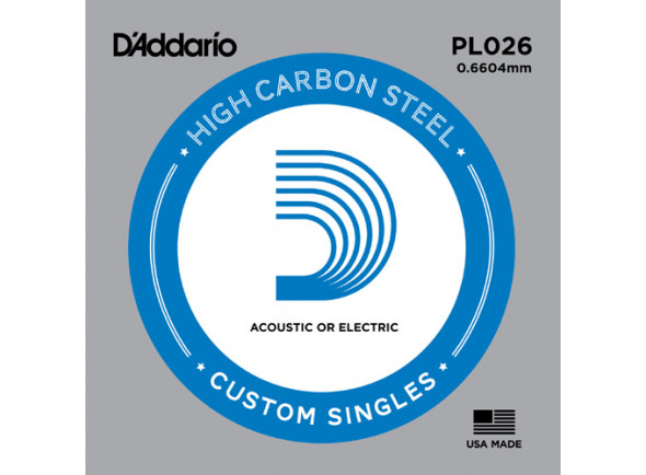 Cordas individuais para guitarra elétrica D´Addario  PL026