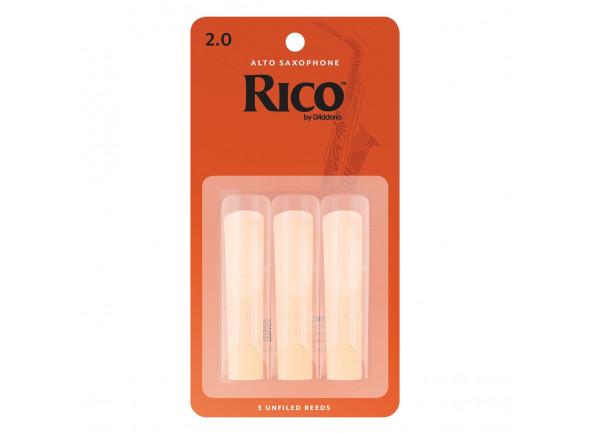 Palheta para saxofone alto D´Addario Woodwinds Rico Alto Sax 2.0 3-Pack