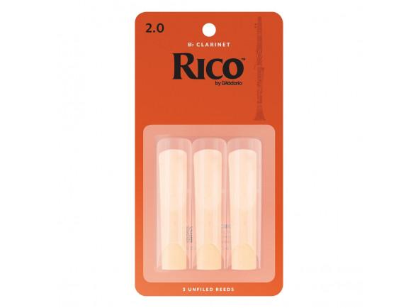 Palheta para clarinete D´Addario Woodwinds Rico Bb- Clar 2.0 3-Pack