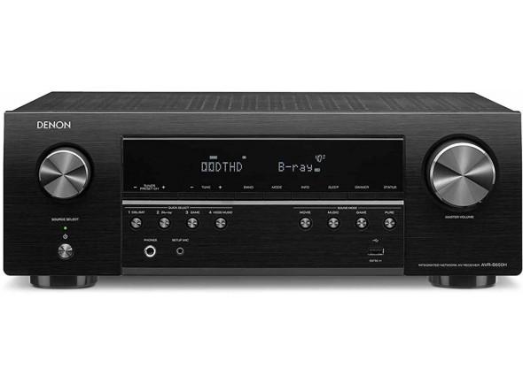Amplificador recetor/Sistema de som Home Cinema Denon AVR-S650H 5.2