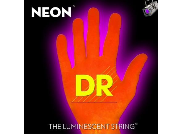 Jogo de cordas .045 para baixo elétrico de 4 cordas DR Bass 45-105 Hi-Def Neon Orange Neon NOB-45