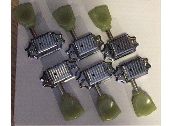 Sistemas mecânicos 3L/3R para guitarra elétrica/Sistemas mecânicos 3L/3R para guitarra elétrica DR. PARTS EMH3157CR