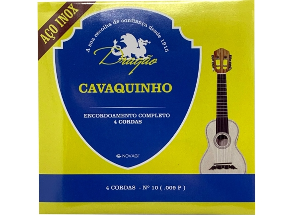 Jogos de cordas para cavaquinho Dragão Aço Inox Cavaquinho 4 cordas Nº10 (.009P)