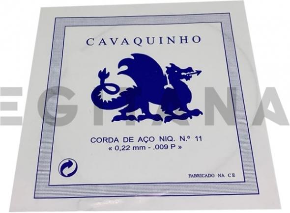 Cordas individuais para Cavaquinho Dragão Corda de Aço Niq. Cavaquinho Nº11 (.009P)