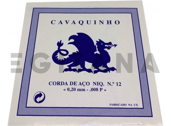 Cordas individuais para Cavaquinho Dragão Corda de Aço Niq Cavaquinho Nº12 (008P)