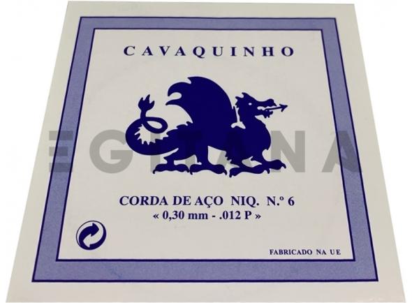 Cordas individuais para Cavaquinho Dragão Corda de Aço Niq. Cavaquinho Nº6 (012P)