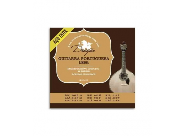 Jogos de cordas para Guitarra Portuguesa Dragão LISBOA INOX DRAGÃO
