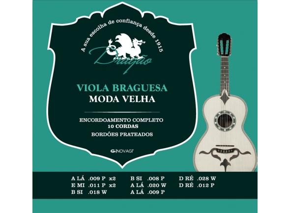 Cordas Instrumentos Internacionais Dragão Viola Braguesa Moda Velha