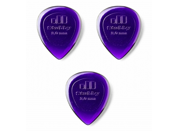 Palhetas para guitarra Dunlop 474R3.0 STUBBY PICK-24/BG
