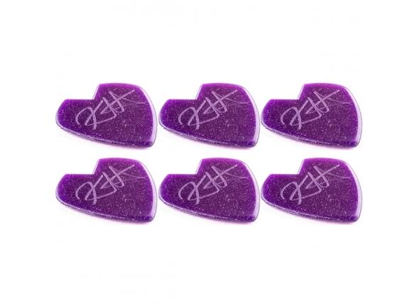Palhetas para guitarra Dunlop 47PKH3NPS Kirk Hammett Jazz III Purple Sparkle 6 Pack