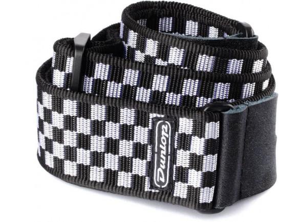 Correa de nylon Dunlop  D38-31BK B&W Check