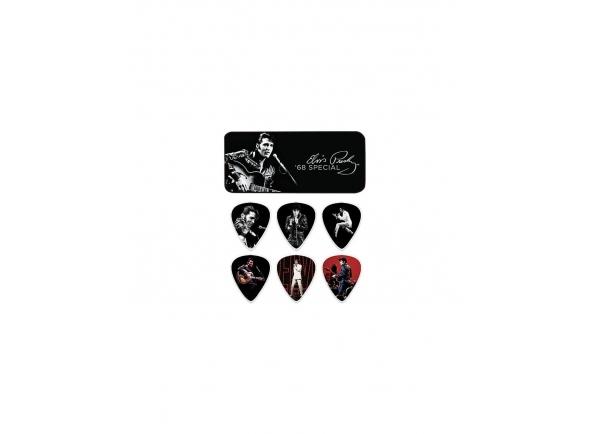 Palhetas para guitarra Dunlop EPPT02 Elvis 68 Special Pick Tins Pack
