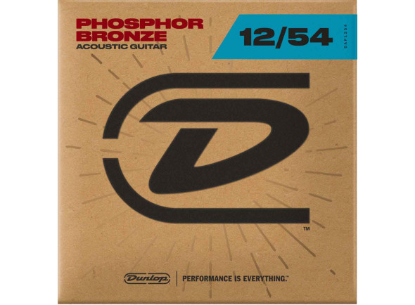 Jogo de cordas .012 Dunlop  FOLK PHOSPHORE BRONZE MEDIUM LIGHT 12 54