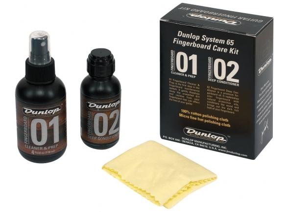 Kit Limpeza de Escala/Produtos de limpeza para guitarra Dunlop Formula 65 Fretboard Kit