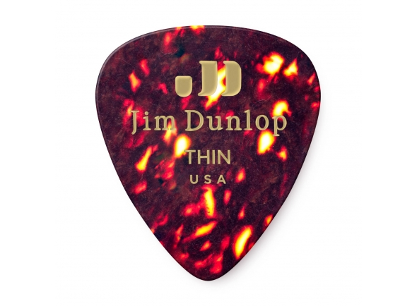 Palhetas para guitarra Dunlop Genuine Celluloid Classic Picks, Player's Pack, 12 pcs., shell, thin