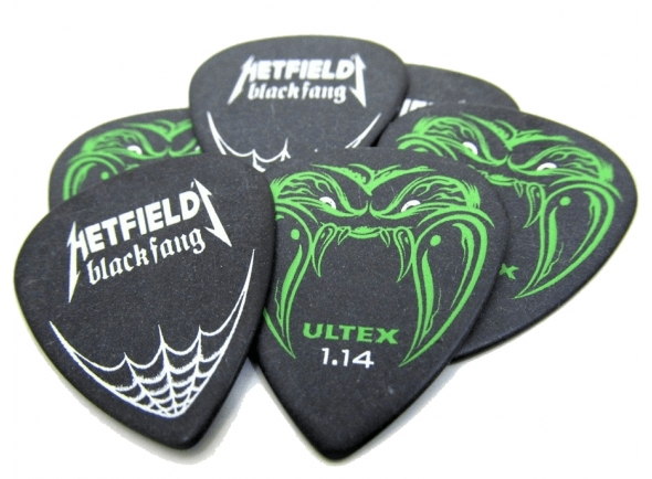 Palhetas para guitarra Dunlop James Hetfield Black Fang PH112R 1.14mm 6 Pack