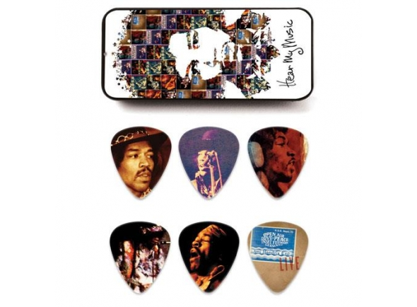Palhetas para guitarra Dunlop Jimi Hendrix JHPT07M