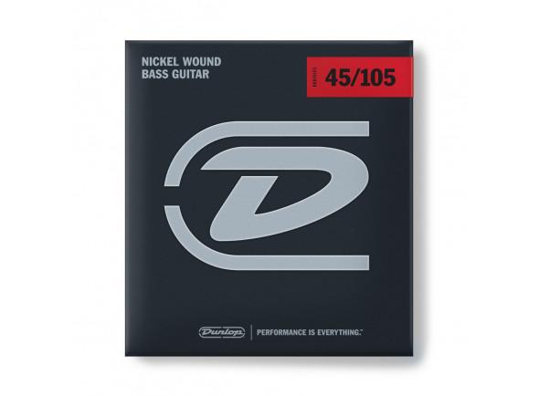 Jogo de cordas .045 para baixo elétrico de 4 cordas Dunlop  Nickel Wound Bass Strings Medium 45-105