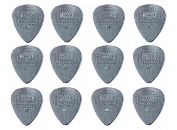 Palheta Max Grip 0.88/Palhetas para guitarra Dunlop Nylon Max Grip 0,88