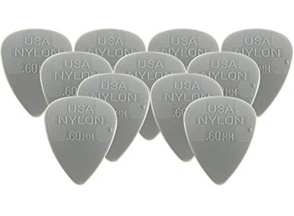 Palheta para guitarra/Palhetas para guitarra Dunlop Nylon Standard 44R 0.60 Pack 12