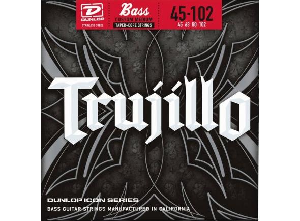 Jogo de cordas .045 para baixo elétrico de 4 cordas Dunlop Robert Trujillo Icon Bass Set4