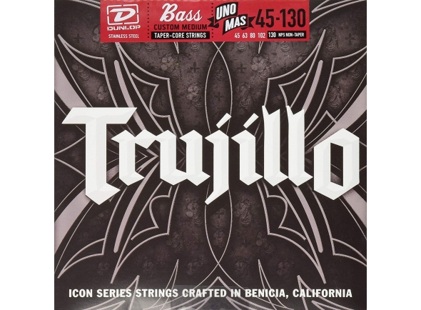 Jogo de cordas .045 para baixo elétrico de 5 cordas Dunlop Robert Trujillo Icon Bass Set